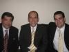 Con Víctor García Rayo y mi padre