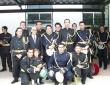 """Con Manuel Rguez. Ruiz y miembros de la B. CC TT \""""Tres Caídas\"""""""